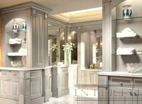 Классическая ванная комната, столешница для ванной