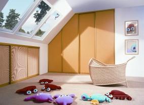 Встроенный шкаф купе в детскую фото